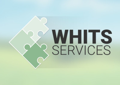 Whits Services Logo & Website